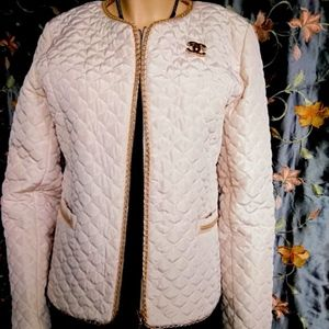 Vintage Quilted Jacket w/Gold Chain